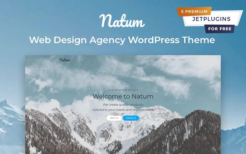 Natum - Web Design Multipurpose Modern Elementor WordPress Theme