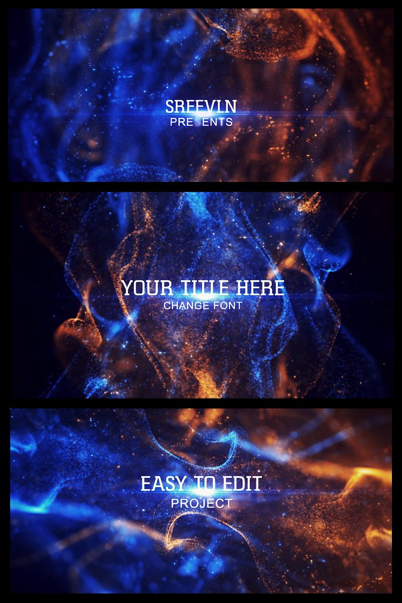 """""""Awards Particles Titles"""" After Effects Intro №81570"""