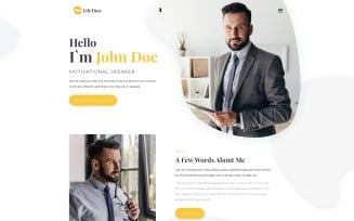 LifeTime - Motivational Speaker Clean Multipage HTML5 Website Template