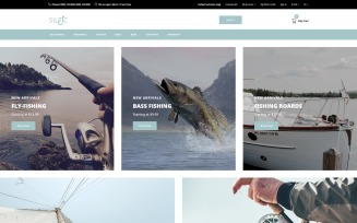 Siltic - Fishing Tackle E-commerce Modern OpenCart Template