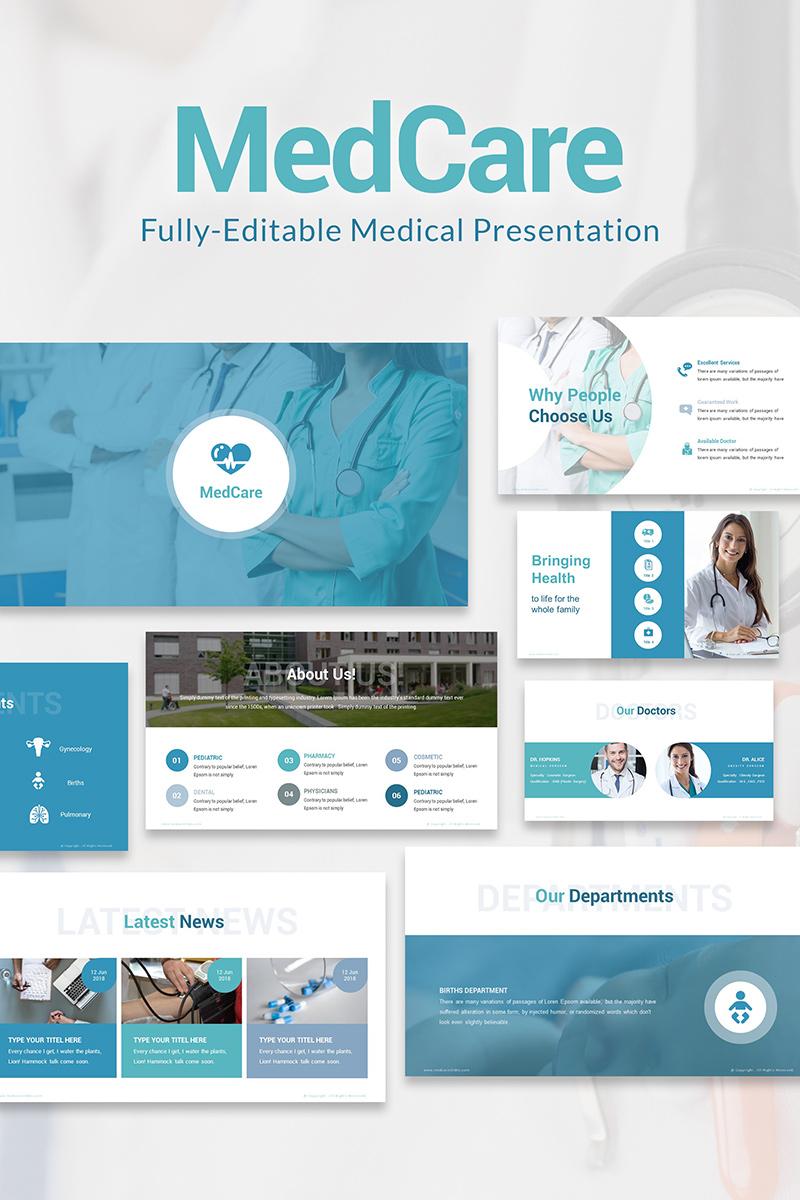 Szablon PowerPoint MedCare Fully-Editable PPT Slides #81569