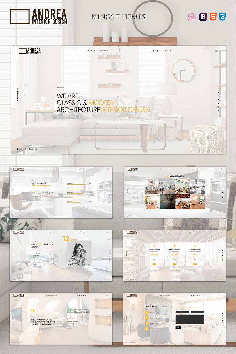 "Template di Landing Page Responsive #81580 ""Andrea - Architecture and Interior Design"""