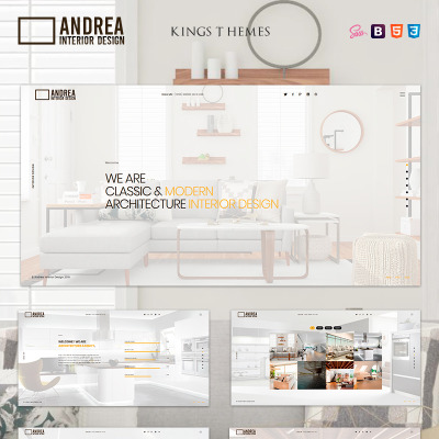 "Template di Landing Page Responsive #81580 ""Andrea - Architecture and Interior Design"" #81580"