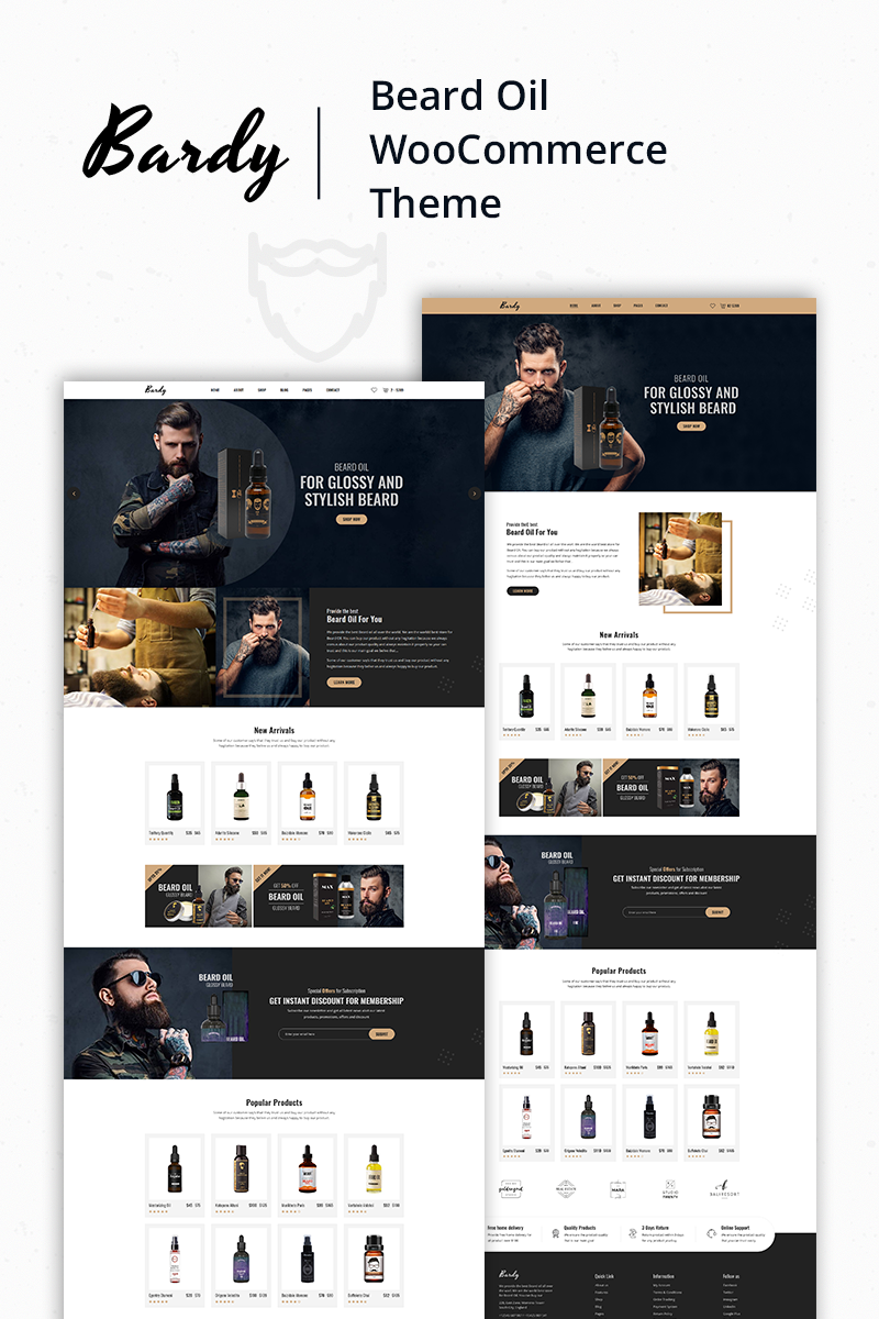 "WooCommerce Theme namens ""Bardy - Beard Oil"" #81515"