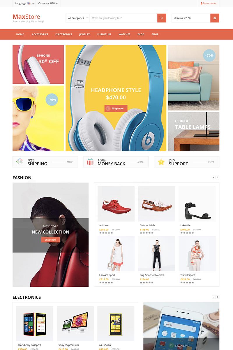 "WooCommerce Theme namens ""Max Store"" #81511"