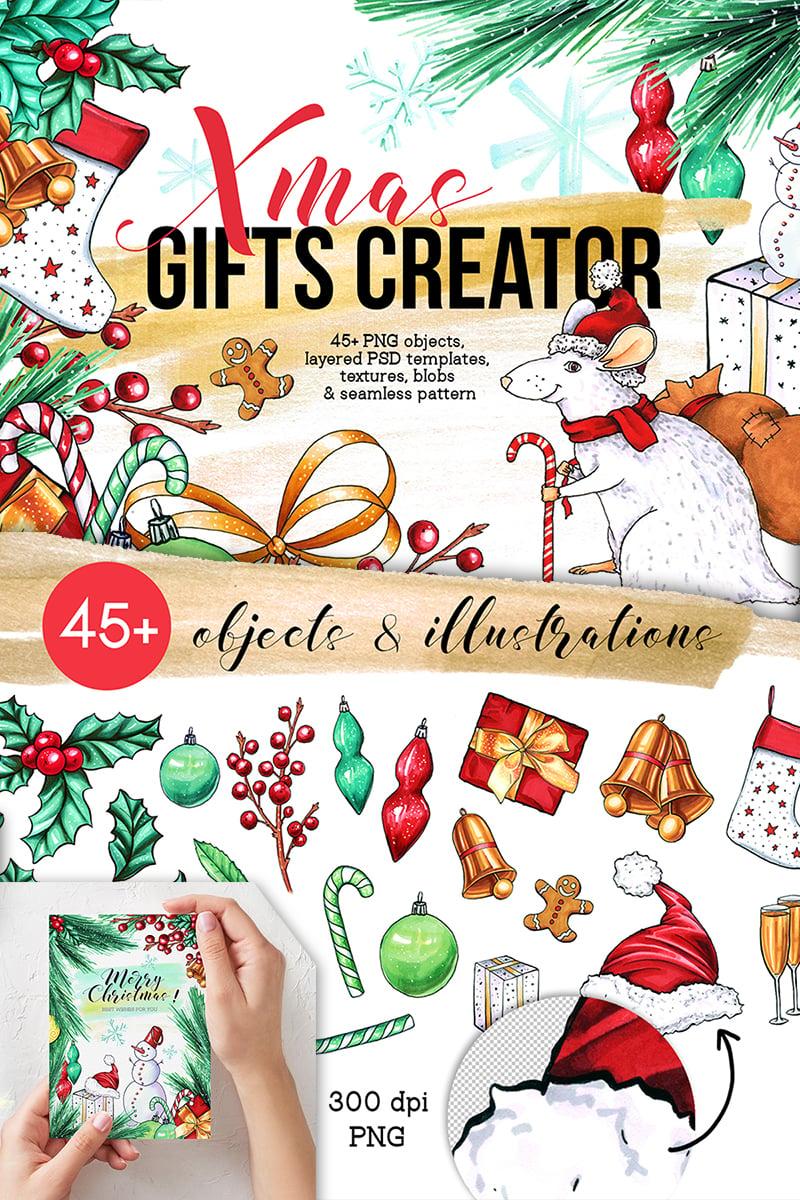 Christmas Illustrations Png.Xmas Gifts Creator 2020 Holidays Clipart Illustration