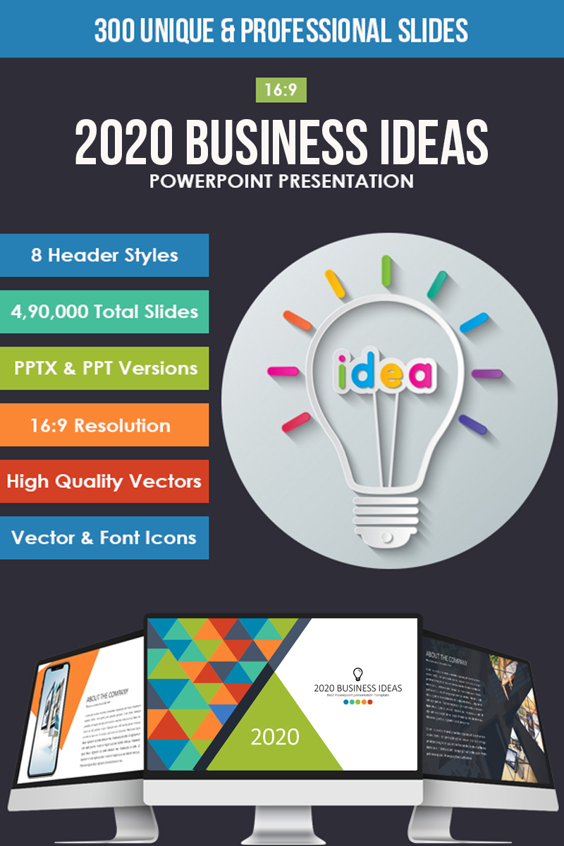 """2019 Business Ideas"" Google Slides №81655"