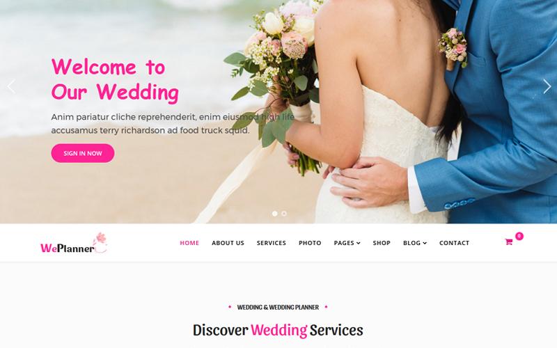 """Joomla Vorlage namens """"Wedding & Wedding Planner"""" #81695"""