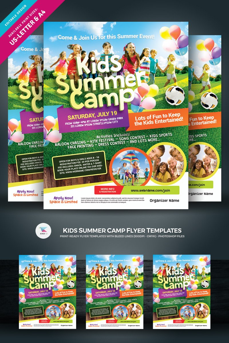 Kids Summer Camp Flyer Corporate Identity Template