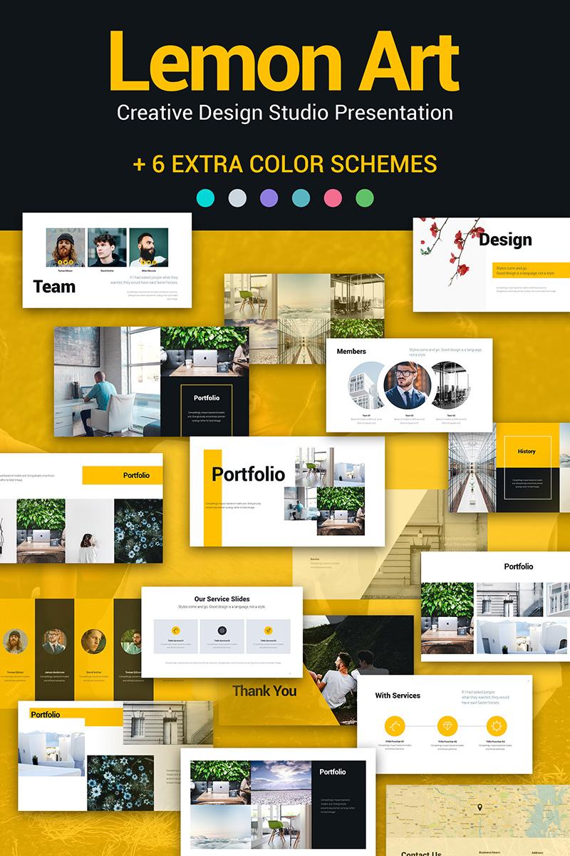 Lemon Art 7-in-1 PPT Design PowerPoint sablon 81674