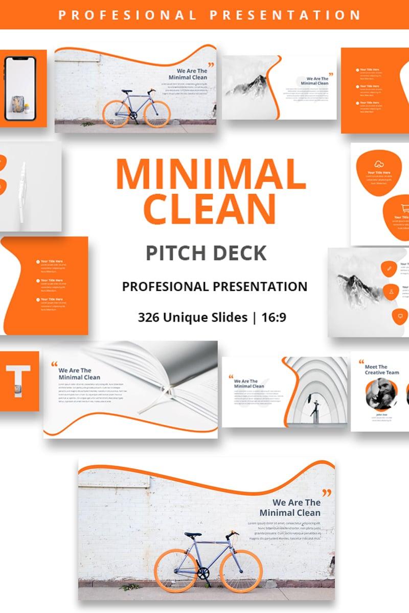 """Minimal Clean Premium"" - Keynote шаблон №81691"