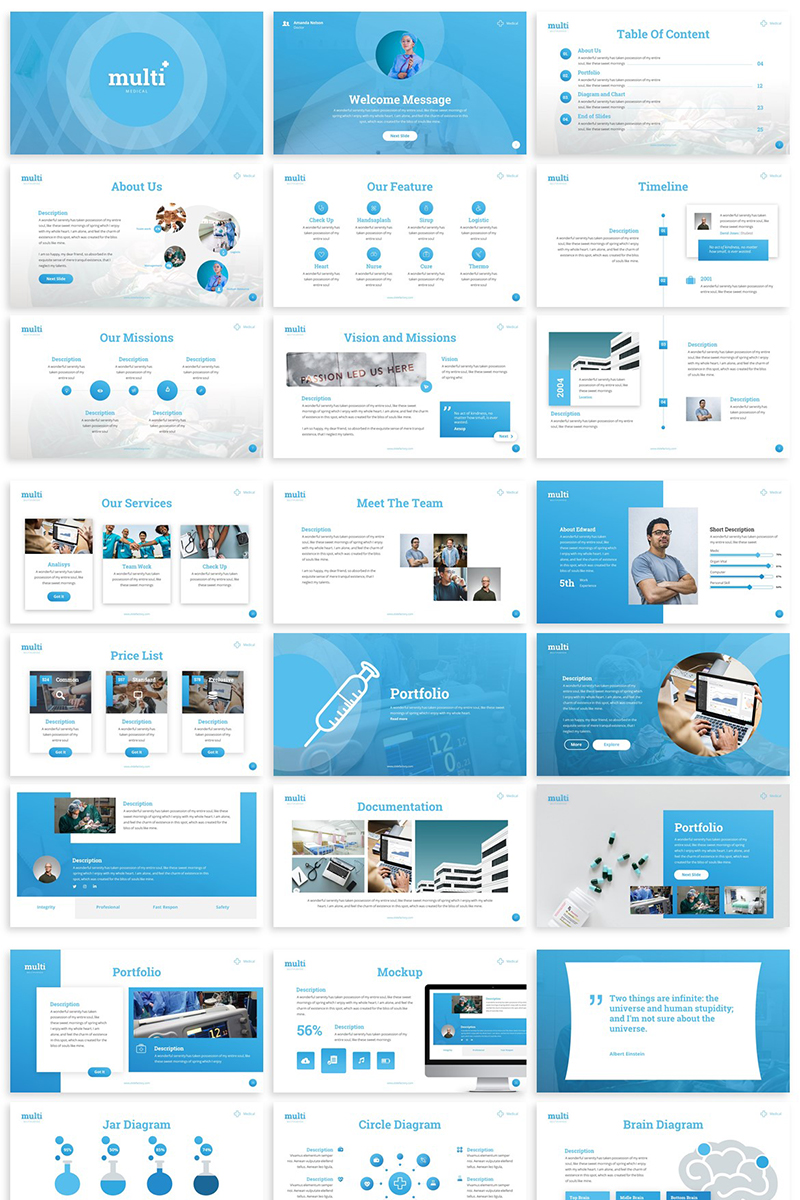 """""""MultiMedical - Presentation"""" PowerPoint Template №81665"""