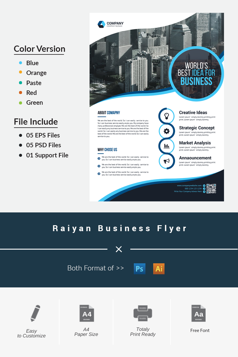 Raiyan Business Flyer Corporate Identity Template