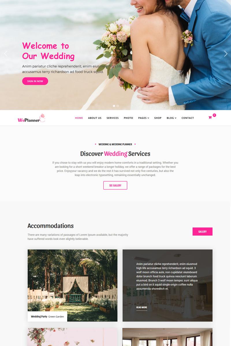 Wedding & Wedding Planner Joomla Template - screenshot