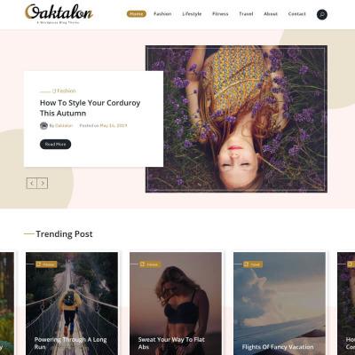 Fashion Blog WordPress Motiv