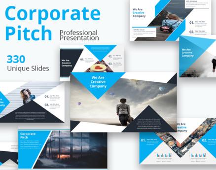 Corporate Pitch Premium Google Slide