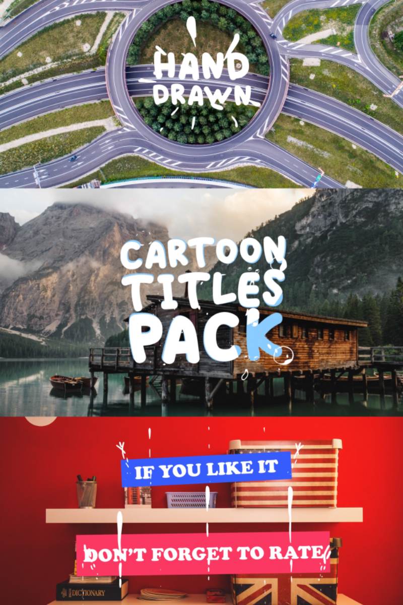 """Cartoon Titles Pack"" After Effects 屏保 #81703"