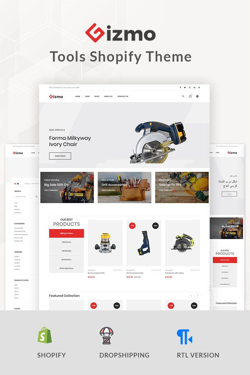 Gizmo - Tools Shopify Theme