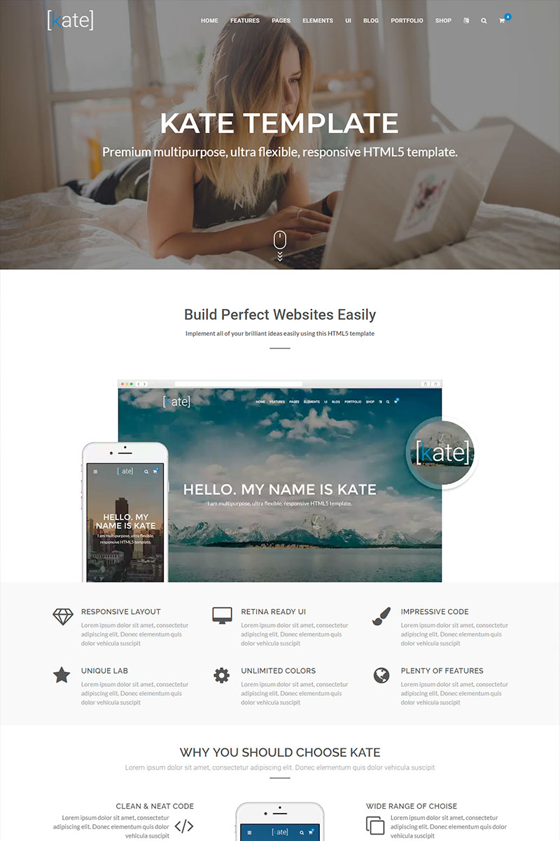 Kate Multipurpose Website Template
