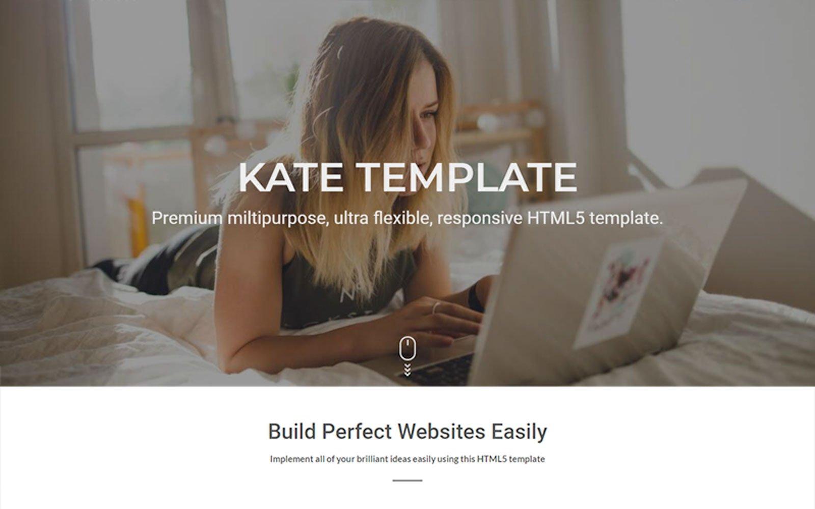 "Plantilla Web ""Kate Multipurpose"" #81718"