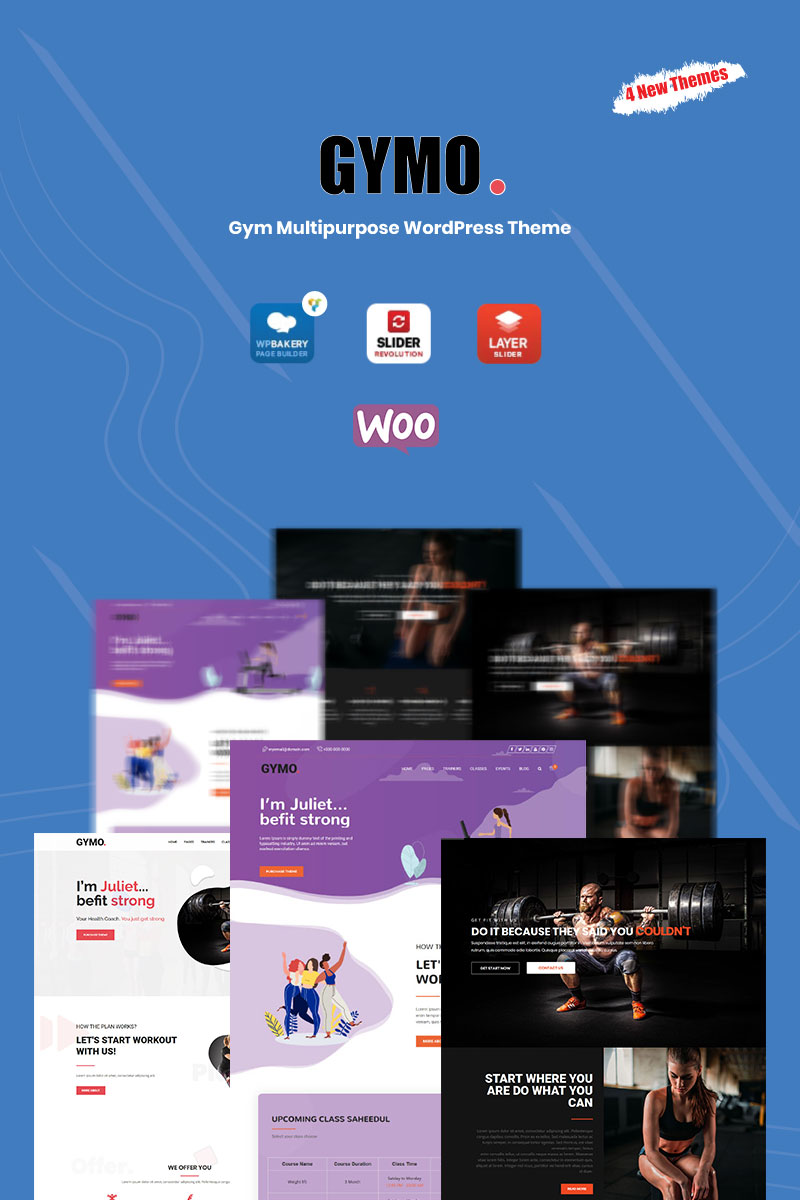 Reszponzív Gymo Gym Multipurpose WordPress sablon 81741