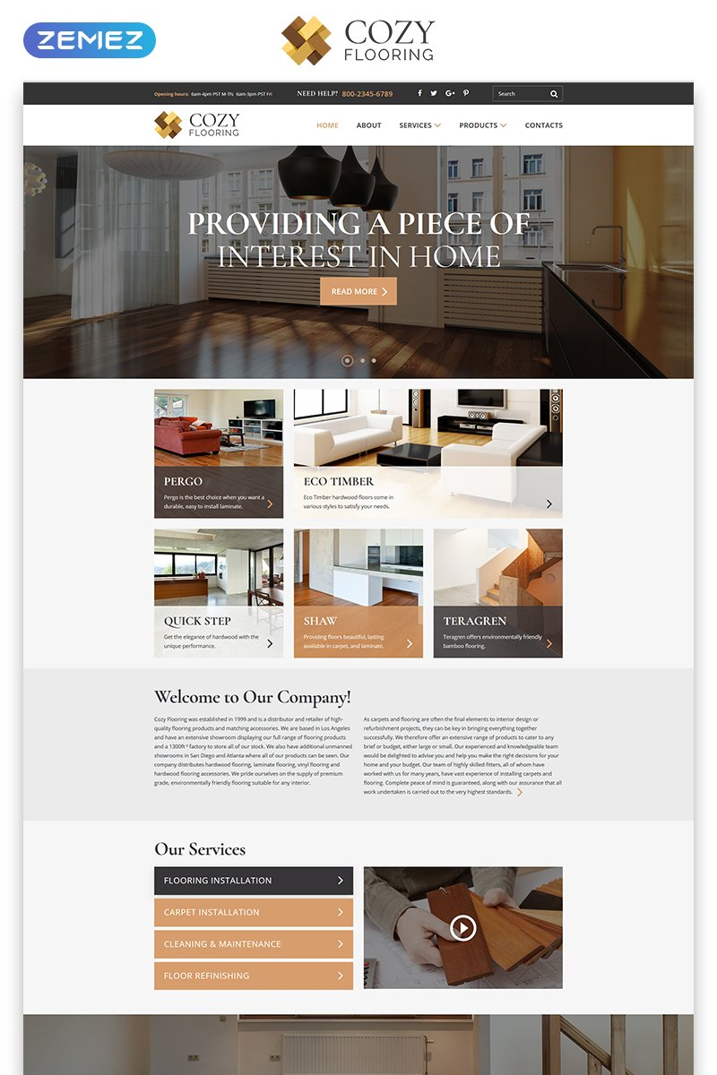 COZY   Flooring Materials Responsive Modern HTML Website
