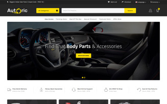 Autoric - Spare Parts Store OpenCart Template