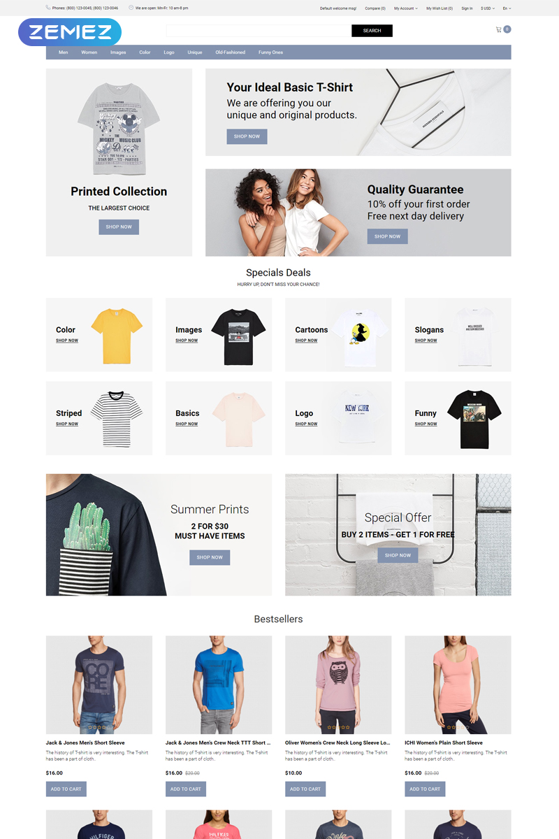 """Cruff - T-shirt Multipage Modern"" Responsive OpenCart Template №81893"