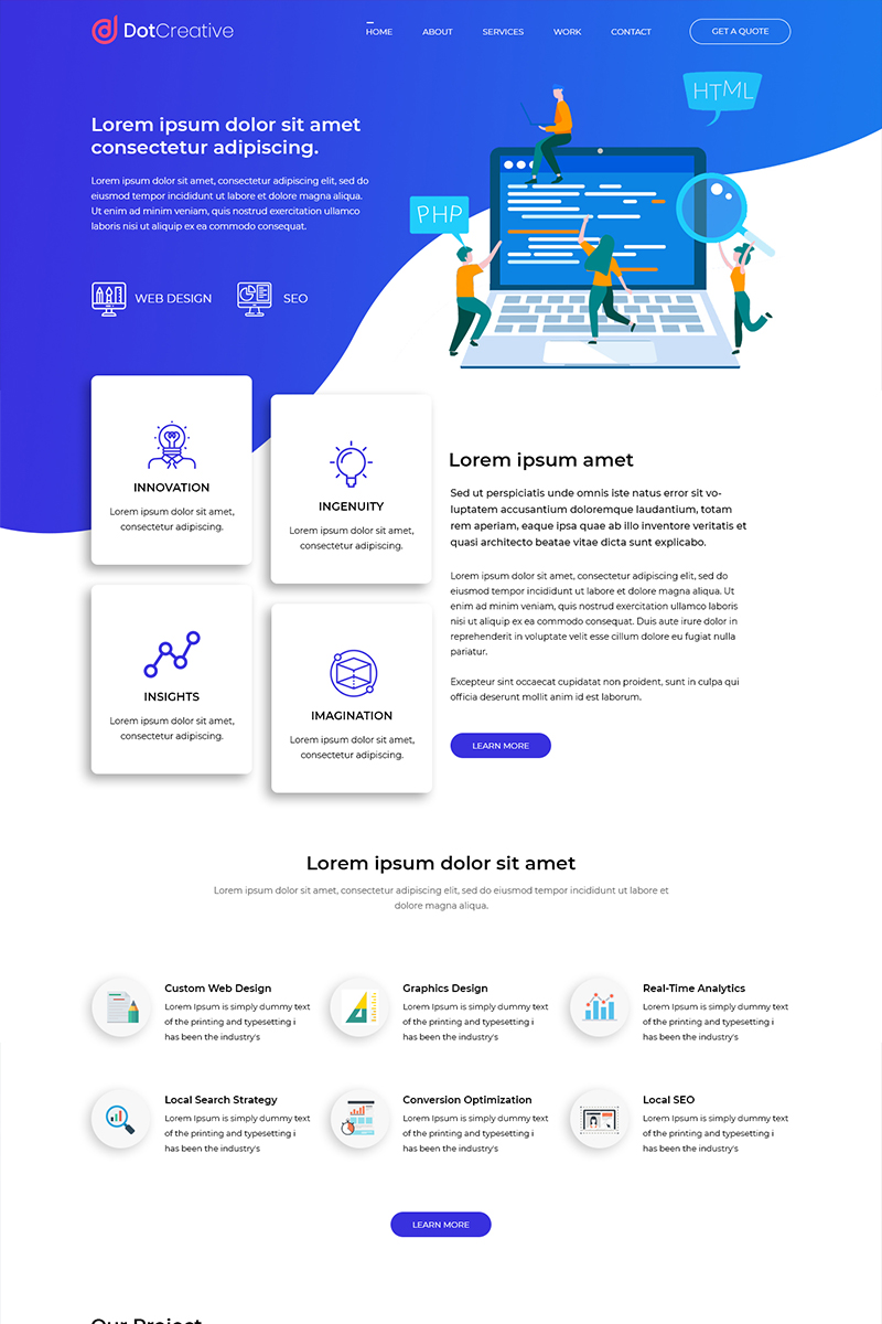 Dotcreative - Web Design Company PSD sablon 81853