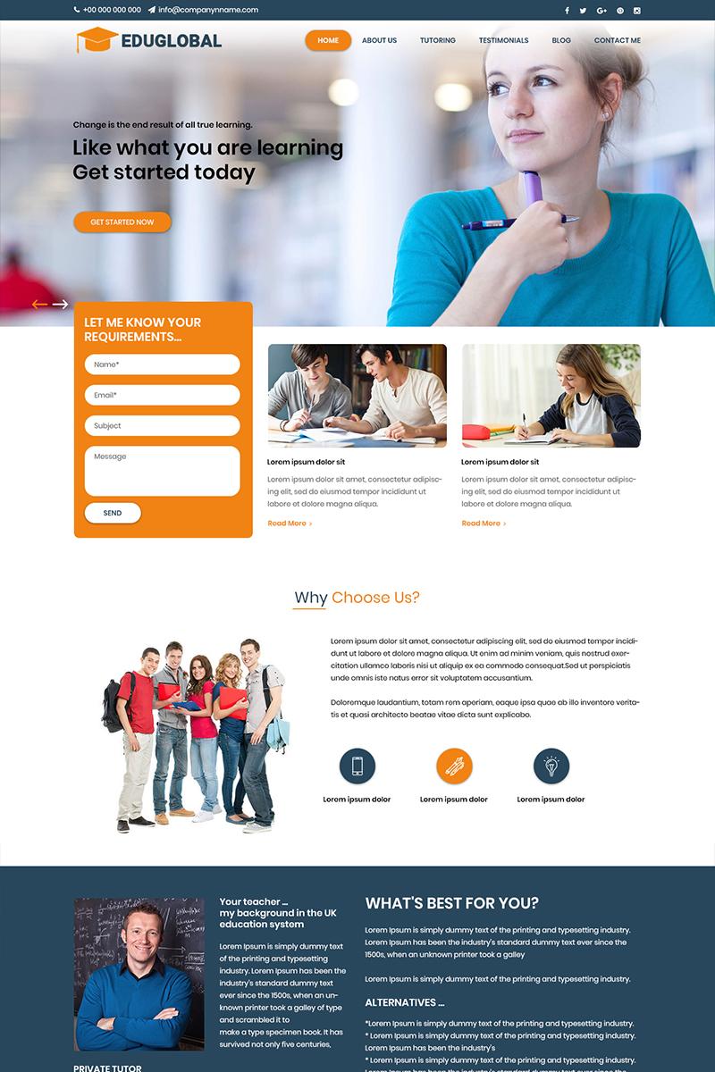 """Edu Global - Online Education"" modèle PSD  #81854"