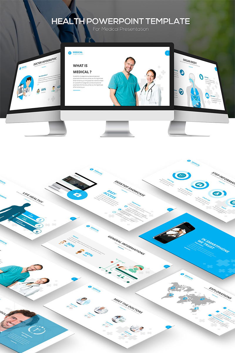 """""""Health"""" PowerPoint Template №81858"""