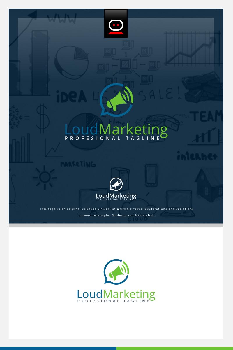 Loud Marketing Logo Template