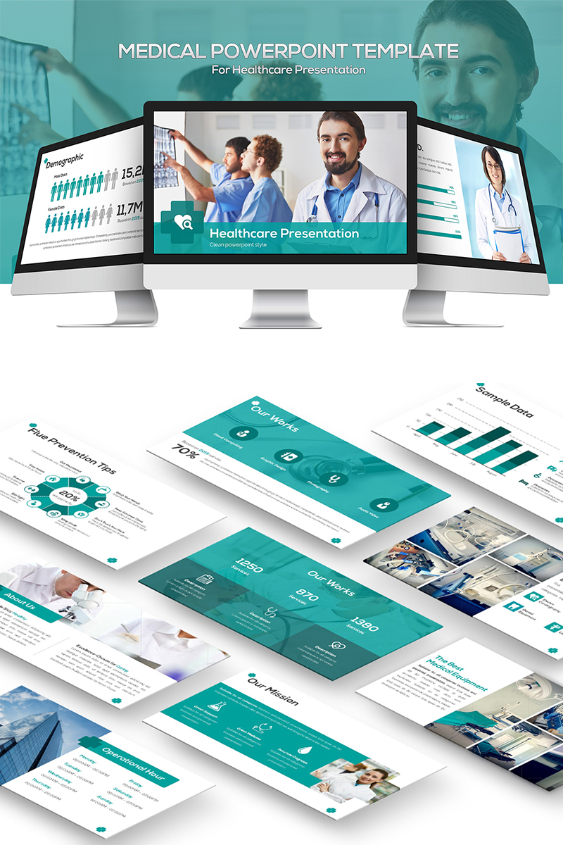 """""""Medical"""" PowerPoint Template №81864"""