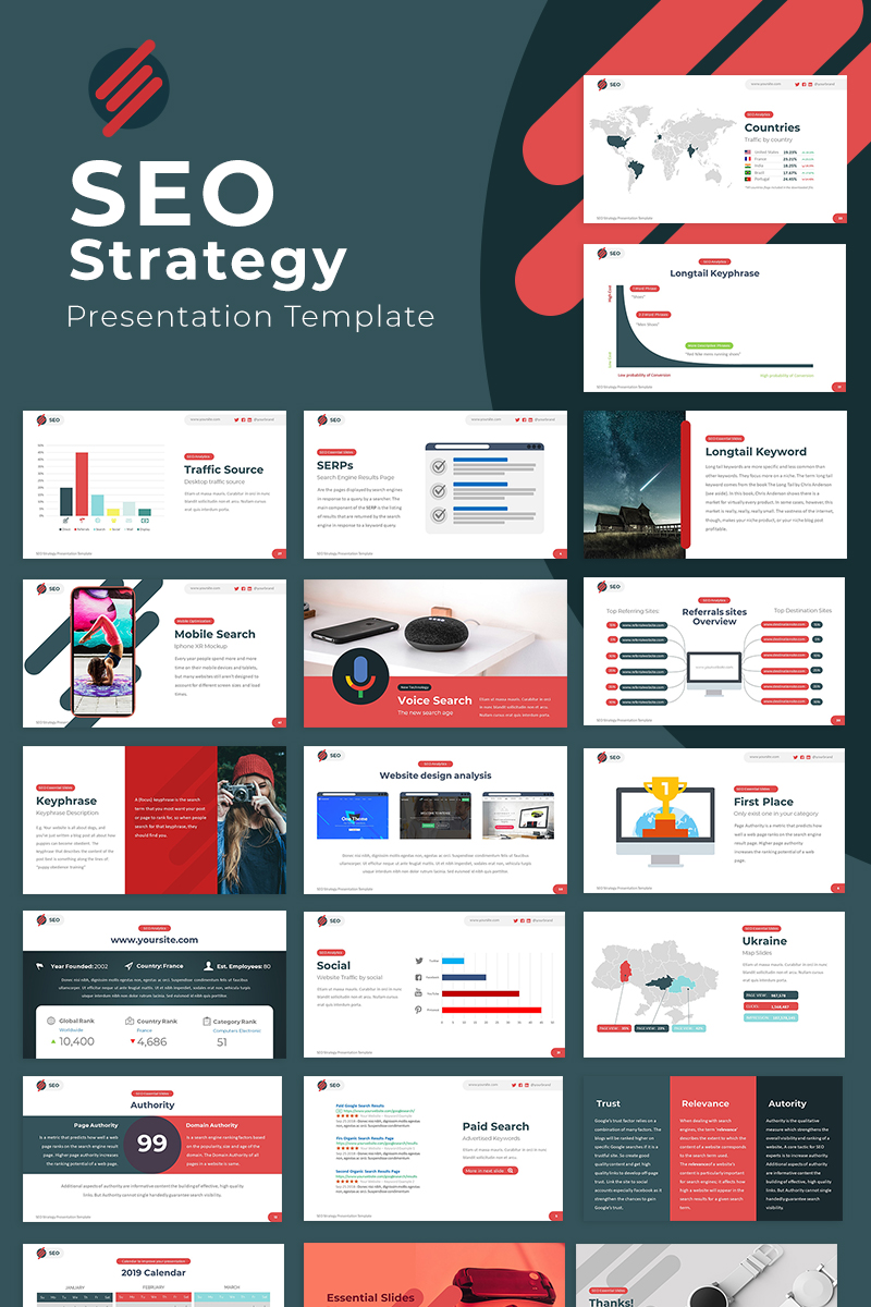 Premium SEO Strategy Google Slides #81822