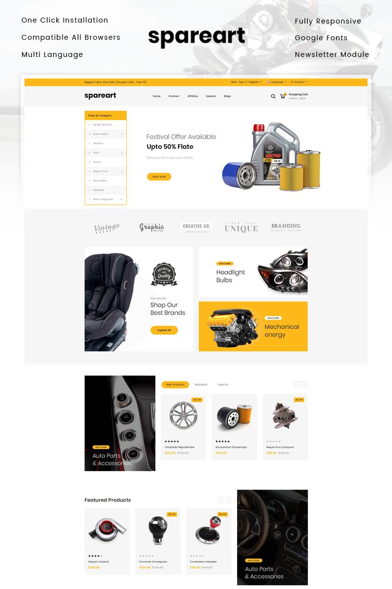 "Responzivní OpenCart šablona ""Spareart - Automobile Store"" #81823 - screenshot"
