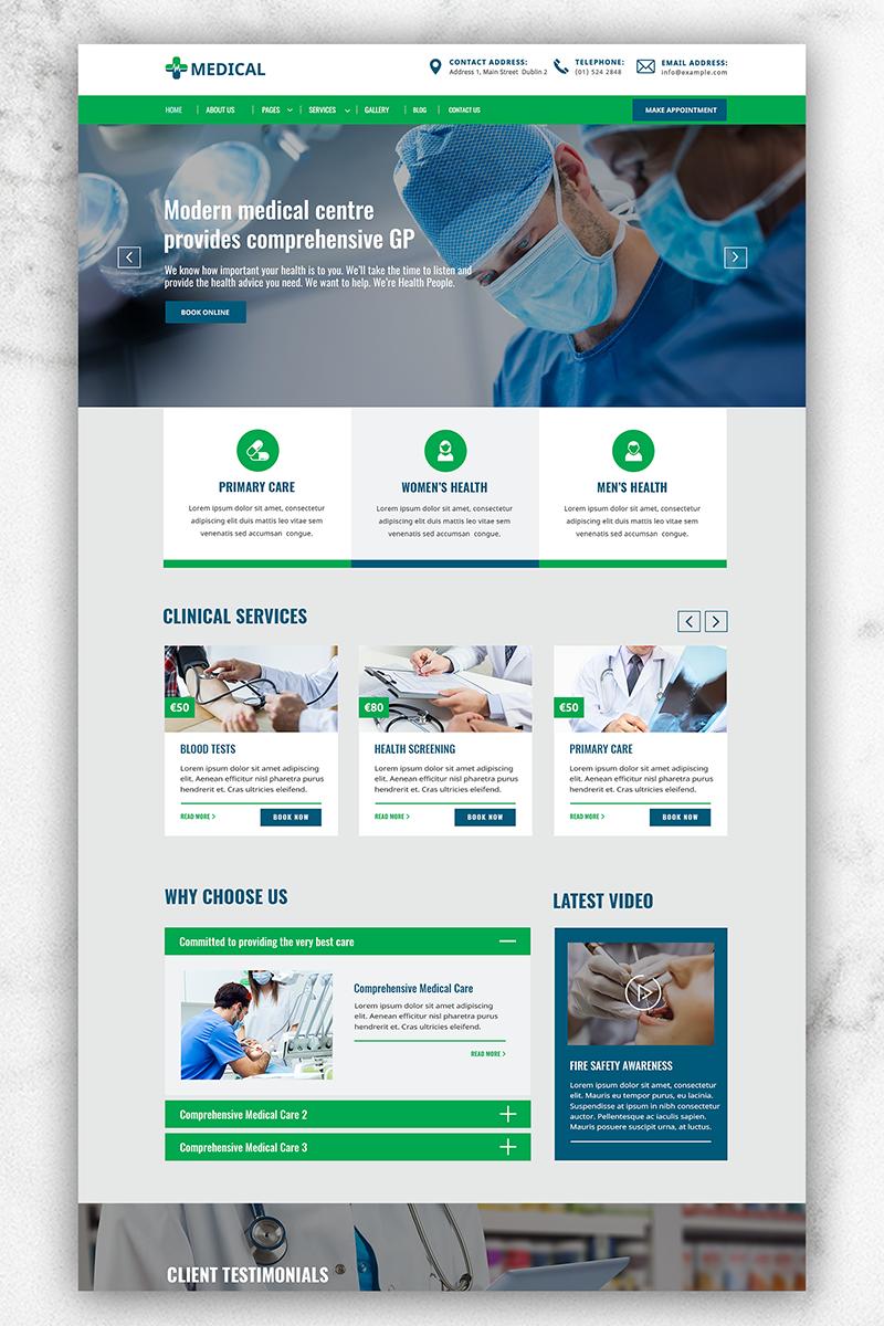 """Šablona webových stránek """"Medical"""" #81898"""