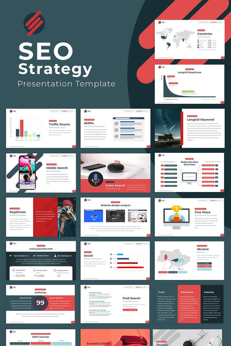 """SEO Strategy"" 奖金Google Slides #81822"