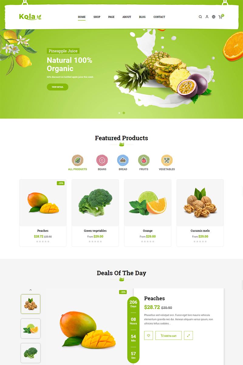 Szablon PrestaShop Kola Organic & Food #81889 - zrzut ekranu