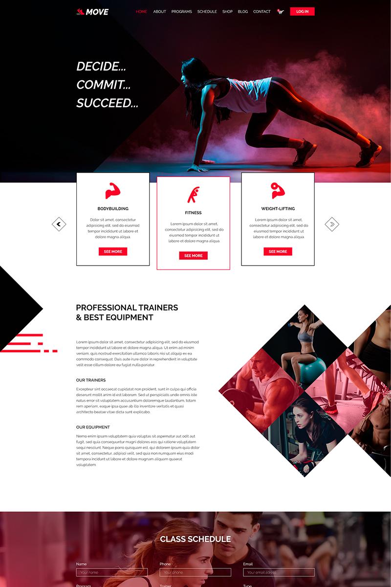 Szablon PSD Move   Fitness&Gym #81831