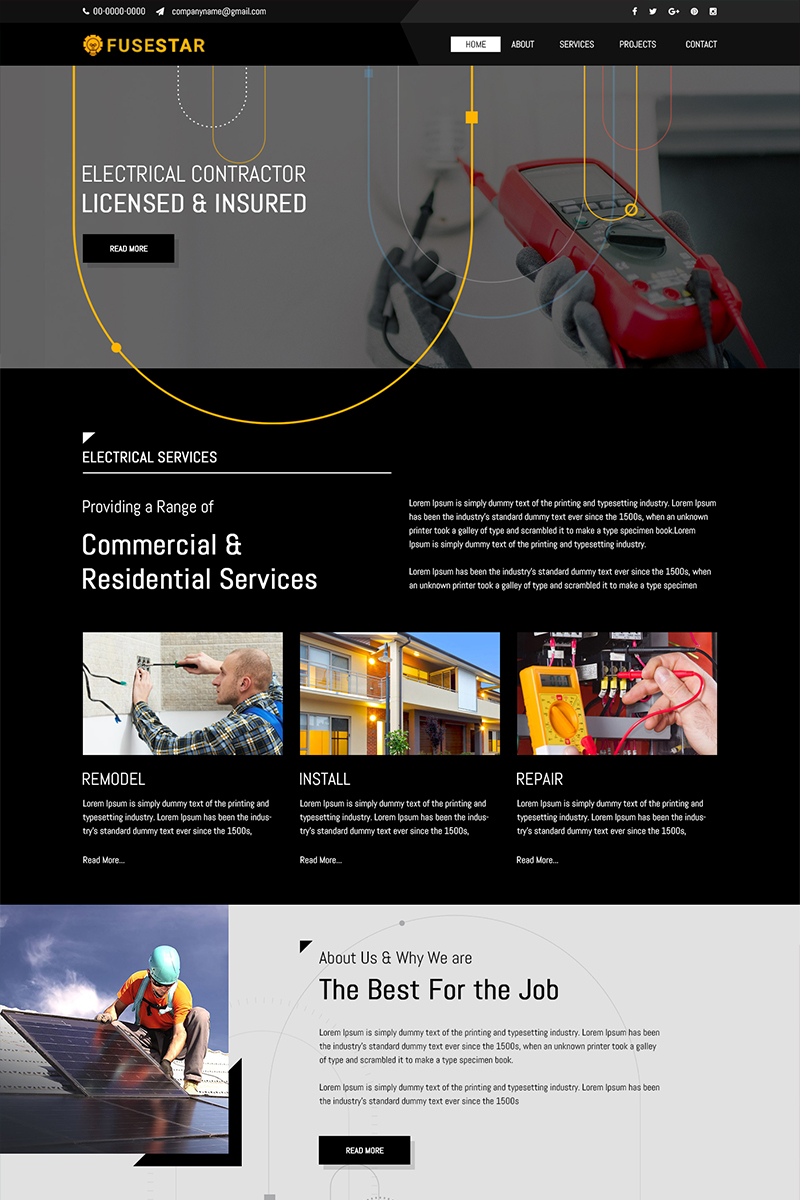 Fusestar - Electric Company PSD Template