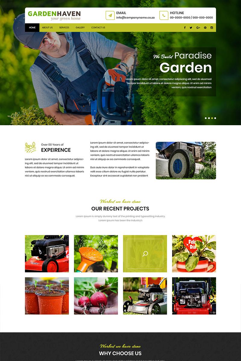 """Garden Haven - Gardening Services"" - PSD шаблон №81916"