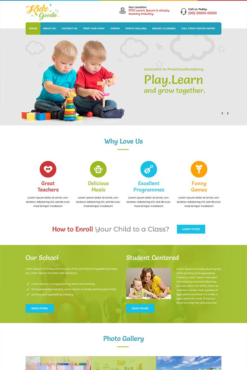 Kidz Goodie - Kindergarten School PSD Template