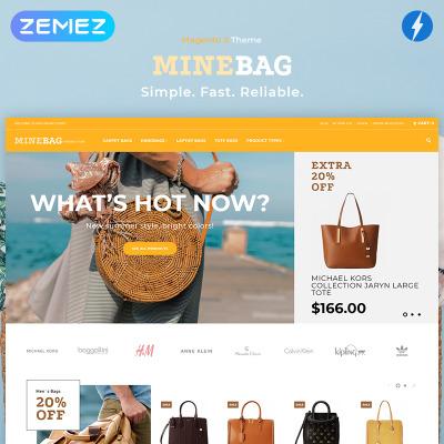 Responsives Magento Theme für Handtasche
