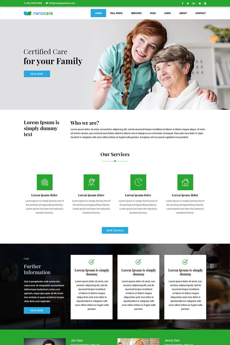 """PSD šablona """"Nano Care - Oldage Home"""" #81937 - screenshot"""