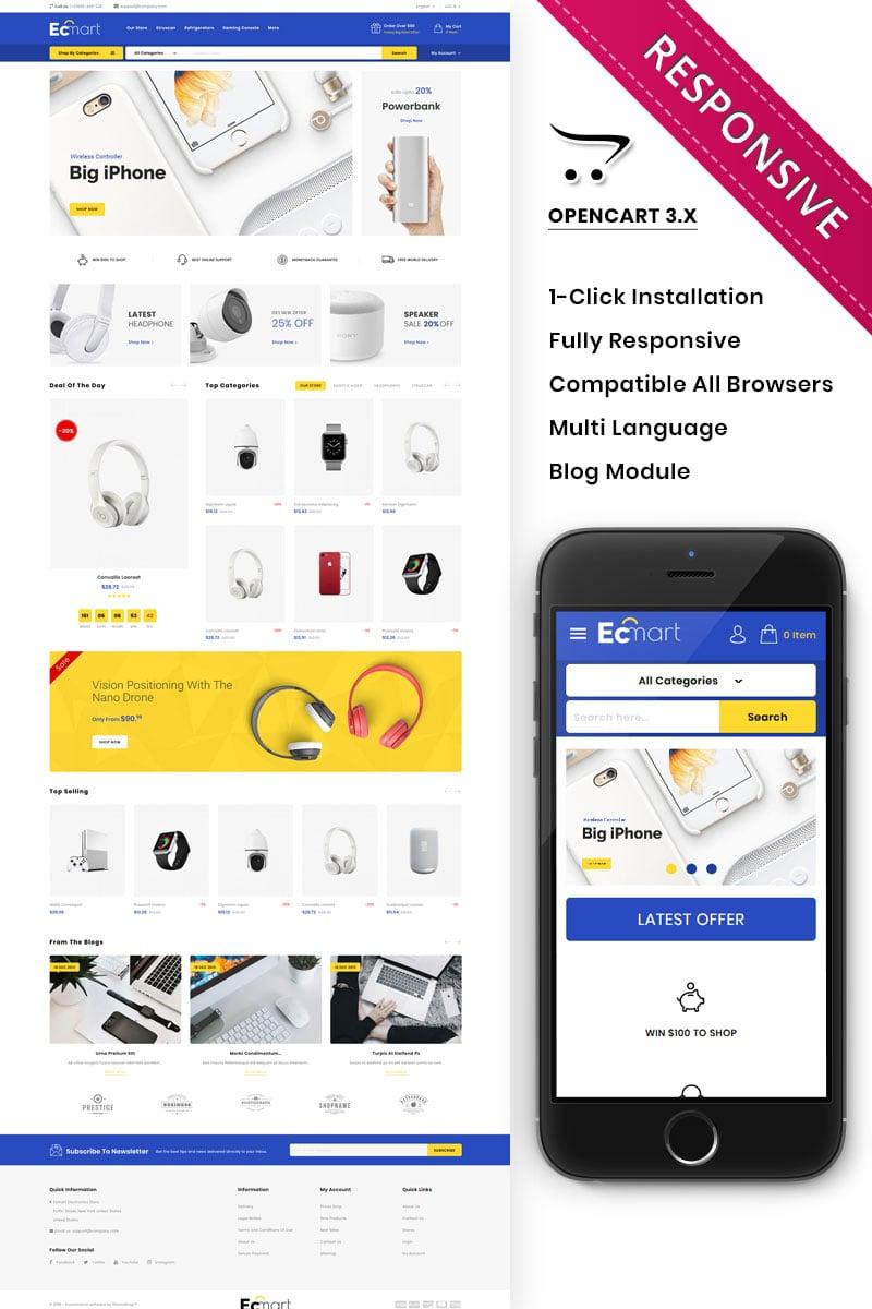 Responsivt Ecmart - The Mega Electronic Store Responsive PrestaShop-tema #81992