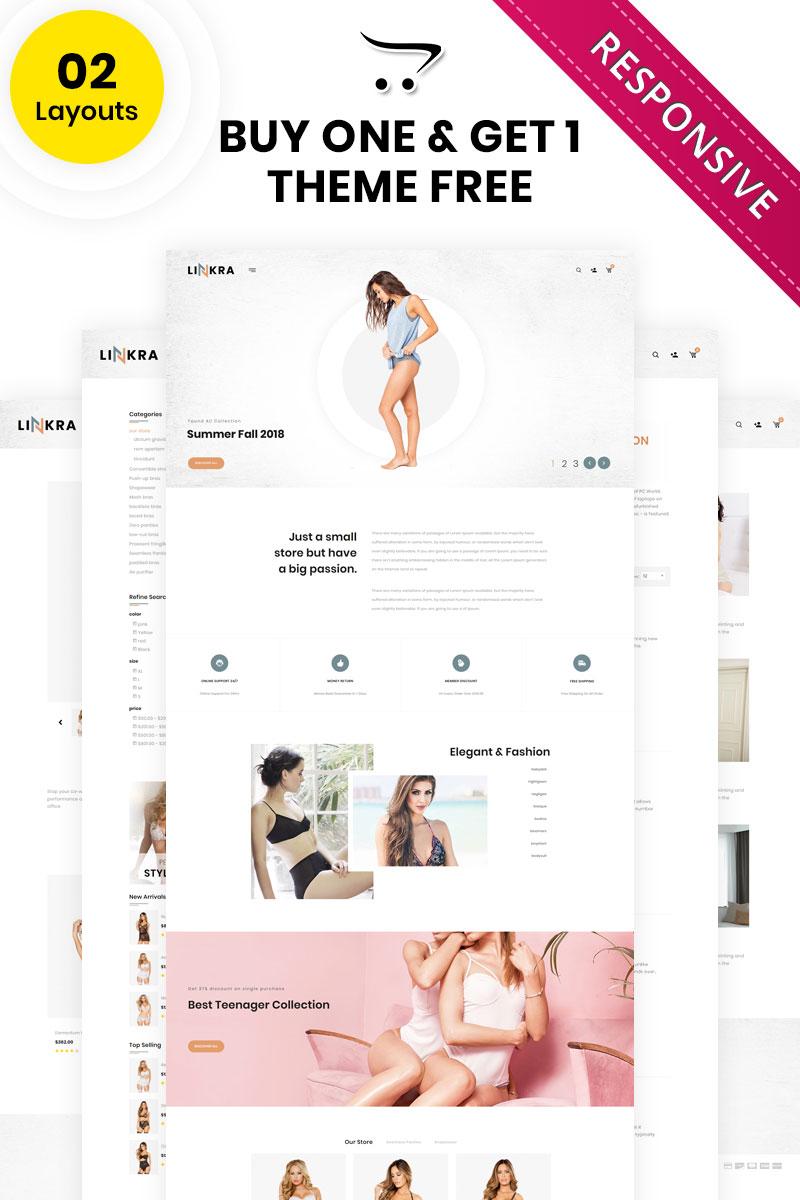 Responsywny szablon OpenCart Linkara - The Clothing Store #81940