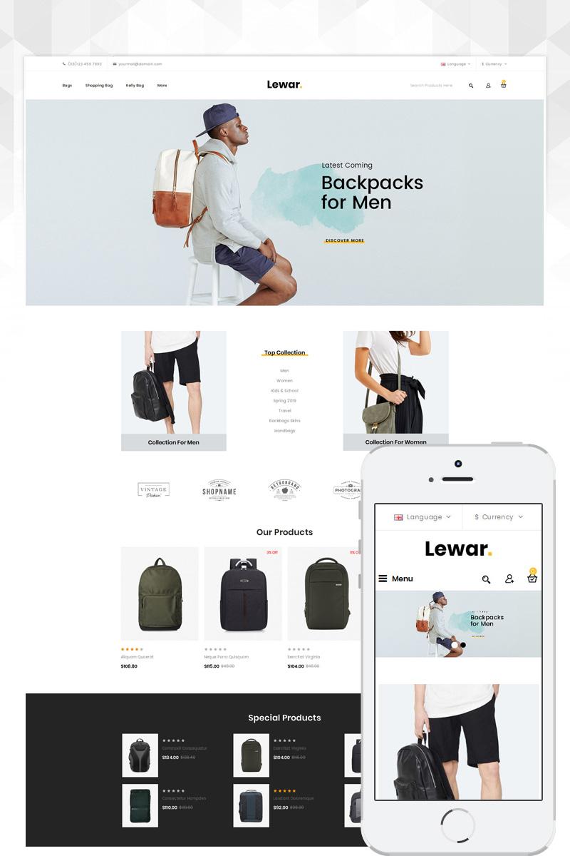 Reszponzív Lewar Bags Store OpenCart sablon 81969
