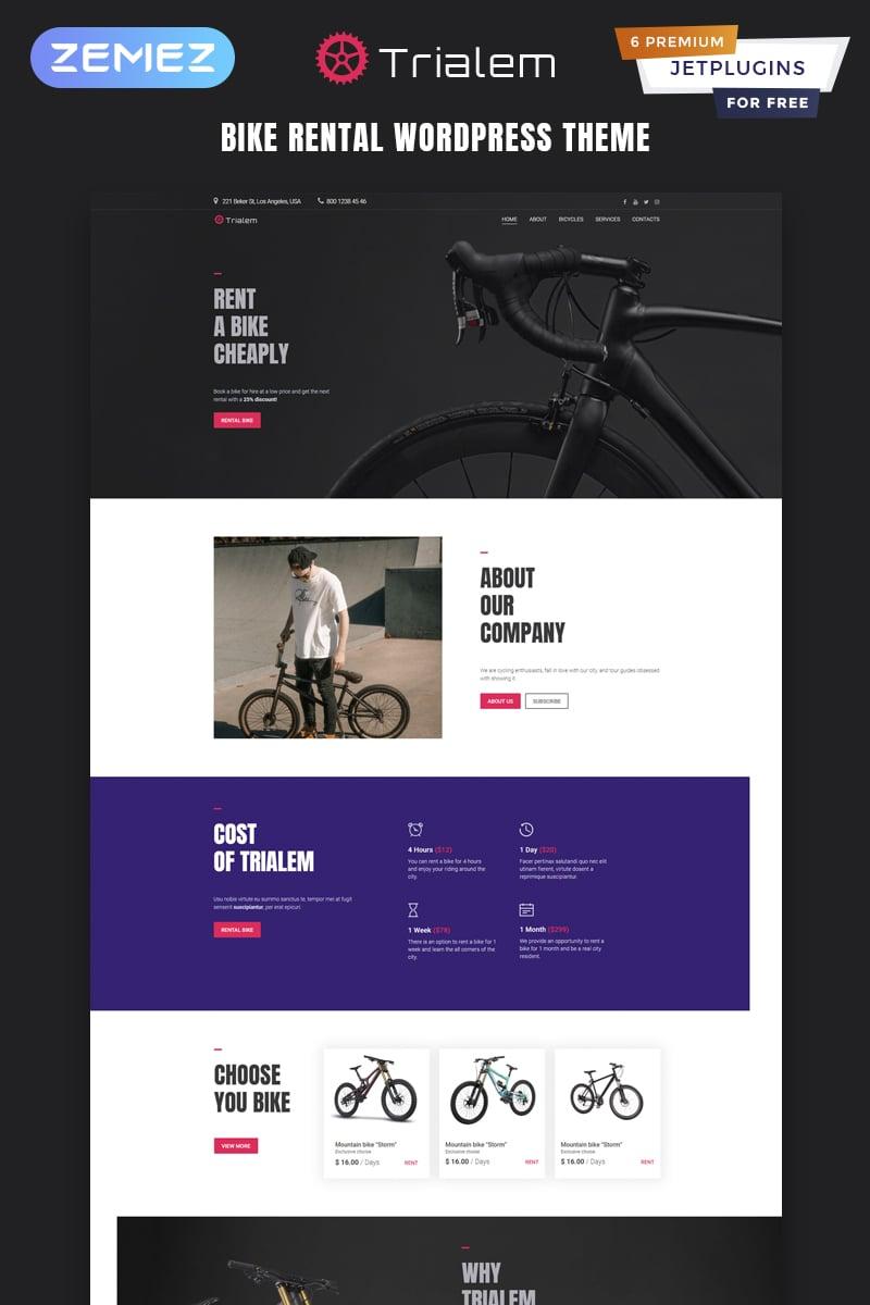Trialem - Bike Rental Multipurpose Modern Elementor WordPress Theme