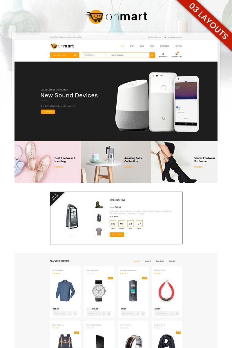 "WooCommerce Theme namens ""OnMart - Multipurpose Store"" #81935"