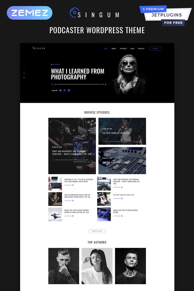 Singum - Podcaster Multipurpose Classic WordPress Elementor Theme WordPress Theme